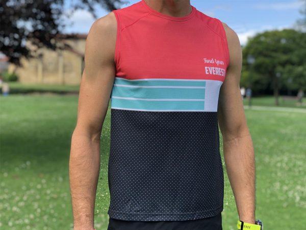 Camiseta técnica sin mangas FYE roja