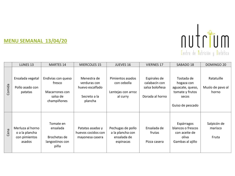 Menú Semanal - Semana 5
