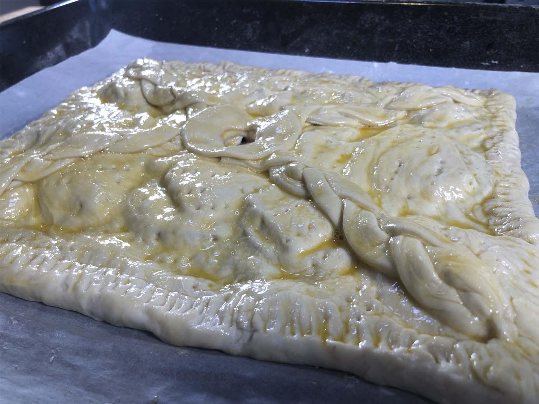 Empanada lista para hornear