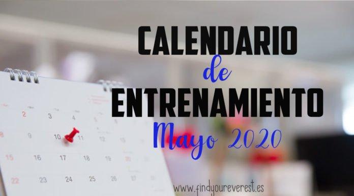 CALENDARIO DE ENTRENAMIENTO - MAYO 2020