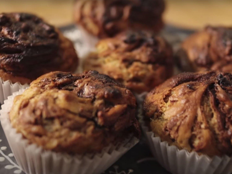 Muffins de Nutella y Plátano