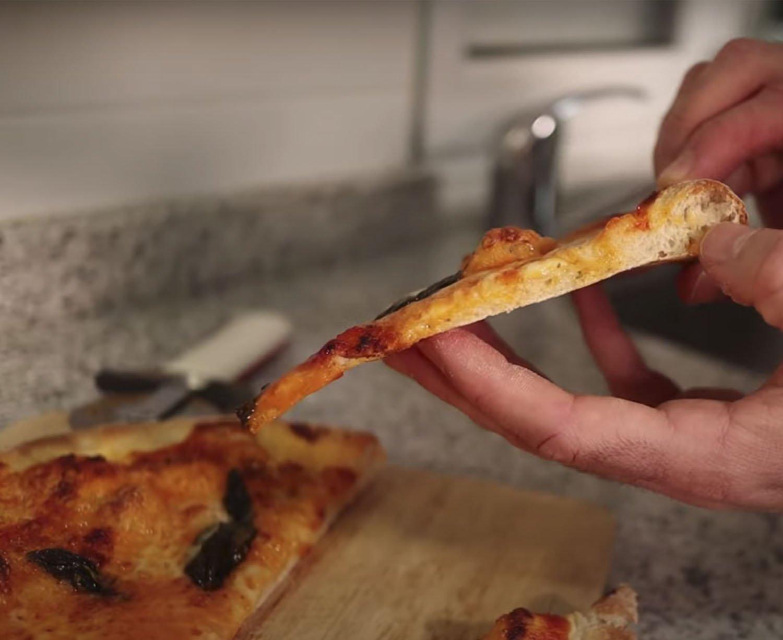 Pizza lista para comer