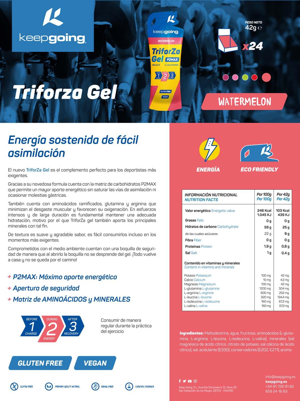 Ficha técnica TriforZa Gel - Sandía