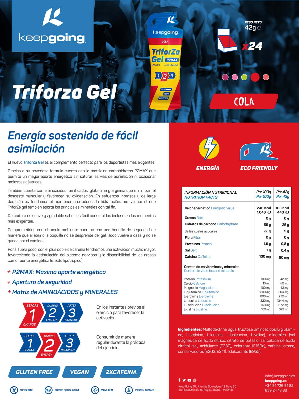 Ficha técnica TriforZa Gel - Cola