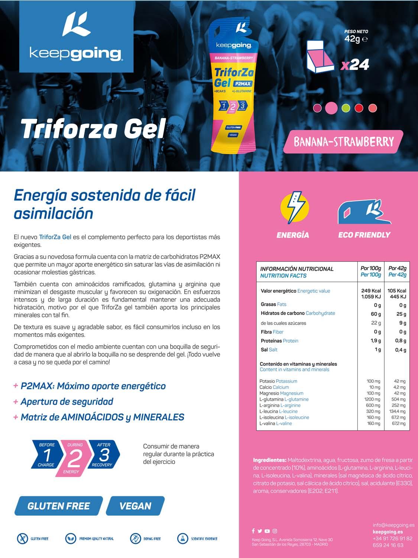 Ficha técnica TriforZa Gel - Fresa y Plátano