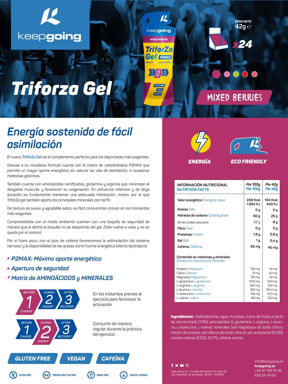Ficha técnica TriforZa Gel - Frutos Rojos