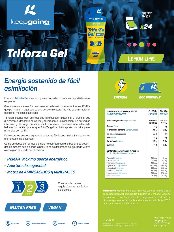 Ficha técnica TriforZa Gel - Lima Limón