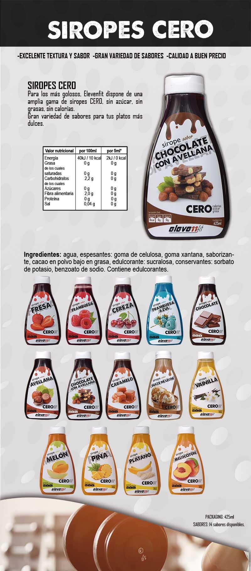 Elevenfit Sirope - Chocolate y Avellana