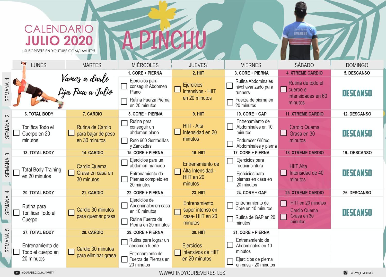 Calendario Julio - Javier Ordieres
