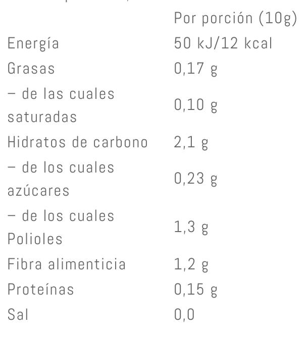 Valor Nutricional Weider Slim Choco Syrup